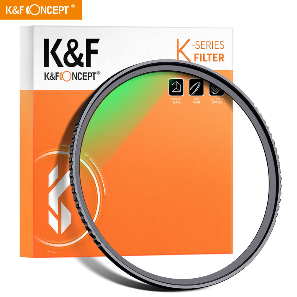 K & F Concept УФ-фильтр 52 мм 77 мм 82 мм ультратонкий многослойный Ультрафиолетовый фильтр защиты объективов для цифровой зеркальной камеры Canon Nikon ...