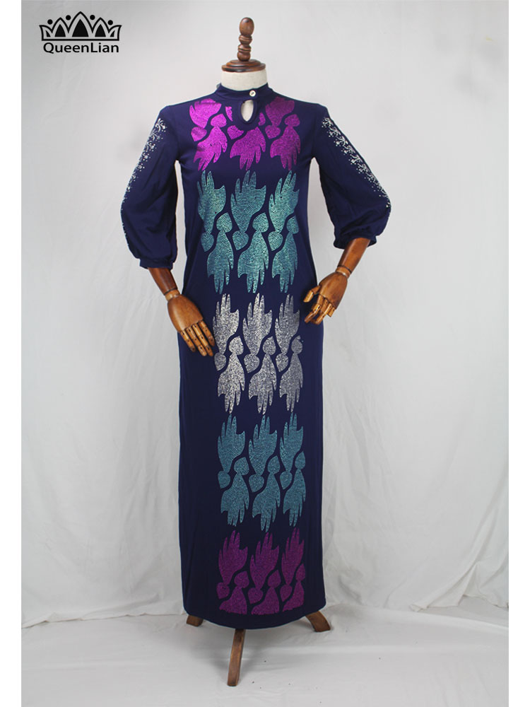 African Oversize African Loose Design Diamond Dress 5