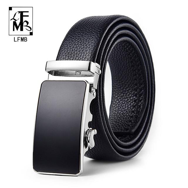 belt male genuine leather mens simple belt fashion designer business new belt Jaguar pattern decorative alloy automatic buckle