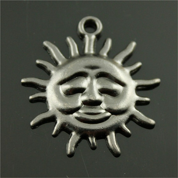 New 1pcs Smiley Sun Charm Pendants Diy Jewelry For Necklace Bracelet Craft Findings image