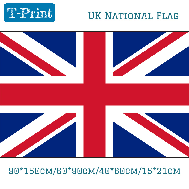 Free shipping 90*150cm 60*90cm 40*60cm 15*21cm United Kingdom National Flag Great British England UK Flag World Cup