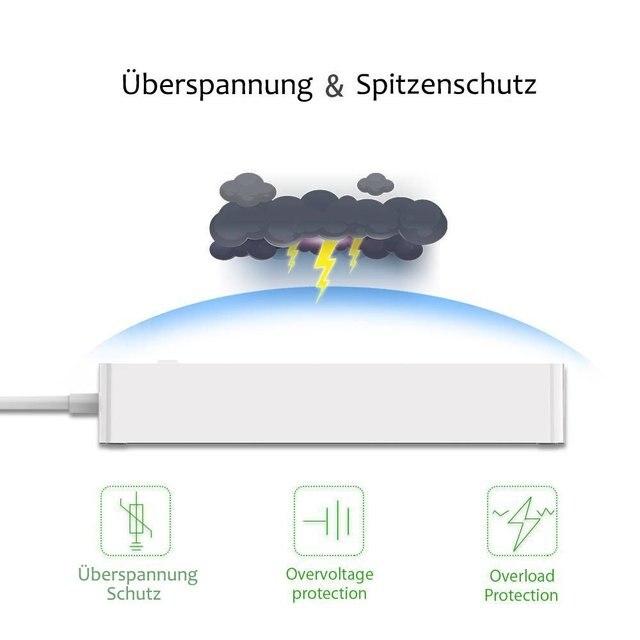WiFi Smarte Steckdosenleiste 6fach mit 4 USB-Ports  3