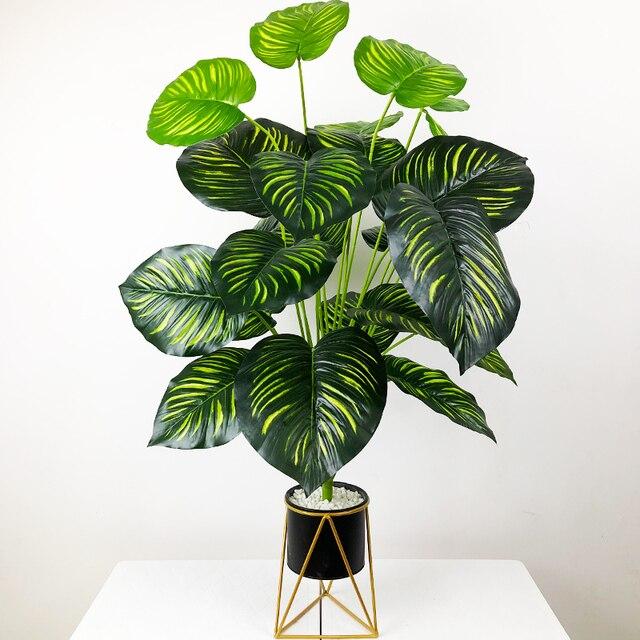 75 см 24 головы тропические искусственные растения большие monstera фотография