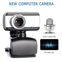 Hd webcam 480p portátil webcam built-in microfone para skype desktop computador usb plug play portátil para windows 7 8 me/2000(China)