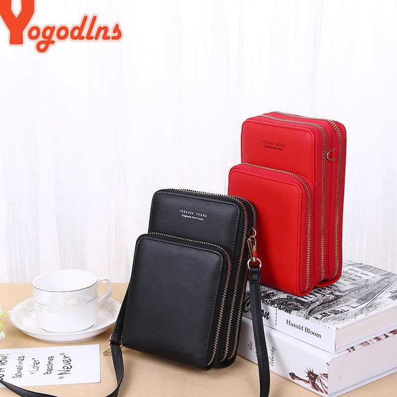 Yogodlns Crossbody Cell Phone Shoulder Bag Cellphone Bag Fashion Daily Use Card Holder Mini Summer Shoulder Bag for Women Wallet