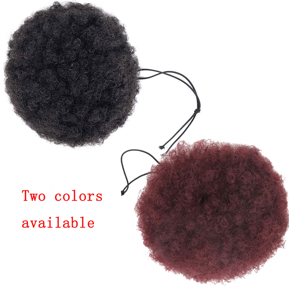 Lupu African Ladies Synthetic Short Hair Chignon 8 Inch Puffy Hair Accessories Hair Extension Curly Natural Hair Extension Wig