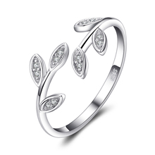CZ Sterling Silver Olive Leaf Stackable Ring Jewelry