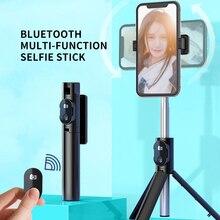 Obrotowy, kompatybilny z Bluetooth selfie Stick dla iPhone 12 11 Pro Max XR X, składany Monopod na biurko, statyw, uchwyt samowyzwalacza do zdjęć na żywo