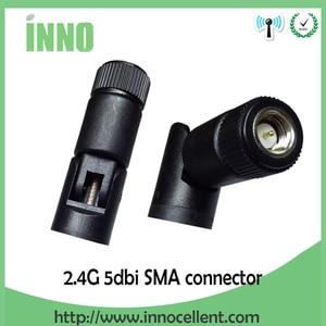 Image 2 - 2.4 GHz Antena wifi 5dBi złącze męskie SMA 2.4 ghz Antena wifi Antena 2.4G wodoodporna bezprzewodowy dostęp do internetu Antena dla bezprzewodowy router wifi