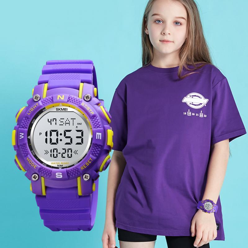Дети% 27s Цифровые Часы Подходит для Мальчиков И Девочек SKMEI Часы Часы Для Детей Светящиеся Руки Будильник Хронограф Время Часы