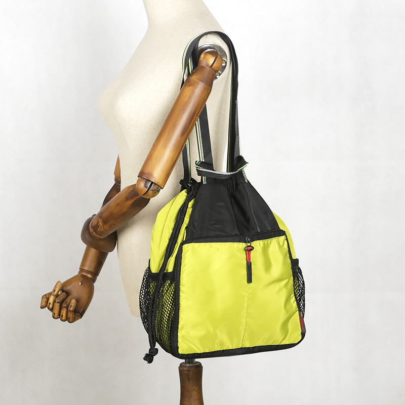 Yinjue Single Shoulder Ightweight Travel Waterproof Large Sports & Leisure Portable Foldable Satchel Drawstring Yoga Outing Bag
