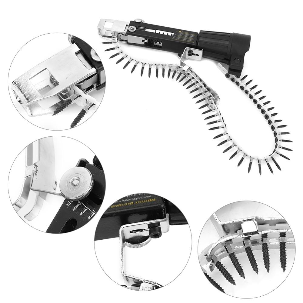 Image 5 - 3pcs Woodwork Automatic Nail Gun Adapter Electric Drill Chain Attachment Set taladro inalambrico cordless screwdriver-in Nail Guns from Tools on