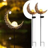 LED solar Flame Decoration Lamp Sun/Moon Garden Light Outdoor Waterproof For Christmas Landscape Pathway Creative Iron Art Light