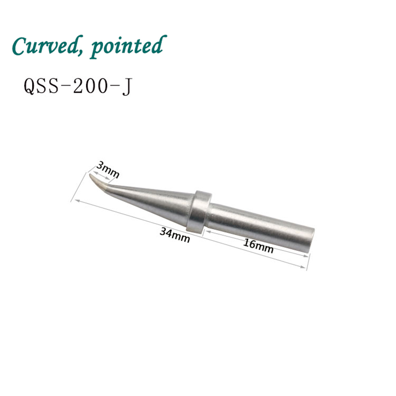 QUICK 203H welding station soldering tip, original tip, curved tip, straight tip, small knife head