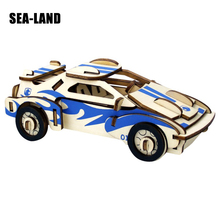 3D Children DIY Puzzle Jigsaw Wooden Toy Kid Early Learning Puzzles Car Series Gift For Adult Brinquedo Classic Toys