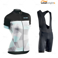 Cycling Clothing Ropa Ciclismo Northwave Women Cycle Jersey Set Short Sleeve Female MTB Uniform Summer Wear Road Bike Skinsuit