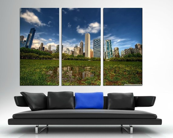 Modern Colorful Photo Picture Grass Downtown Area Room Decor Cities Canvas Art Painting Picture Photo Living Room Bedroom Decor in Painting Calligraphy from Home Garden