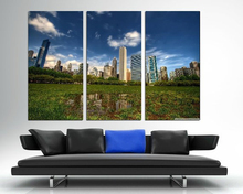 Modern Colorful Photo Picture Grass Downtown Area Room Decor Cities Canvas Art Painting Living Bedroom