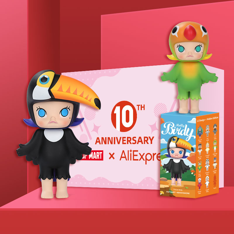 POPMART Molly Birdy Toys Figure Blind Box Action Figure Birthday Gift Kid Toy Free Shipping