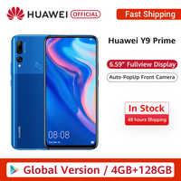 """W magazynie globalna wersja Huawei Y9 Prime 2019 Smartphone AI potrójne tylne kamery 4GB128GB Auto Pop Up przednia kamera 6.59 """"telefon"""