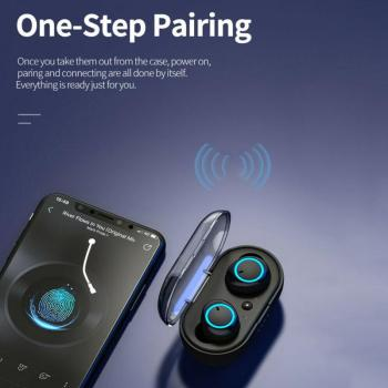 2021 TWS Wireless Bluetooth 5.0 Earphone Touch Control 9D Stereo Headset with Mic Sport Earphones Waterproof Earbuds LED Display 2