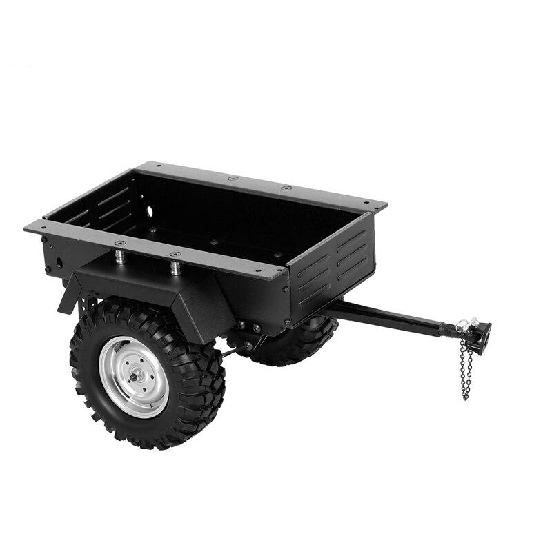 Remorque à ressort à lames métallique voiture pour 1/10 échelle RC chenille voiture axiale SCX10 90046 Traxxas TRX4 TRX6 Tamiya Redcat, noir