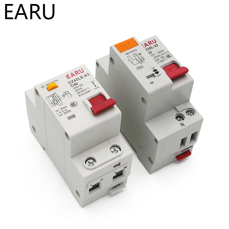 H8d8ccf4f69024d87afe5b198de75d061b - DZ30L DZ40LE EPNL DPNL 230V 1P+N Residual Current Circuit Breaker With Over And Short Current  Leakage Protection RCBO MCB 6-63A