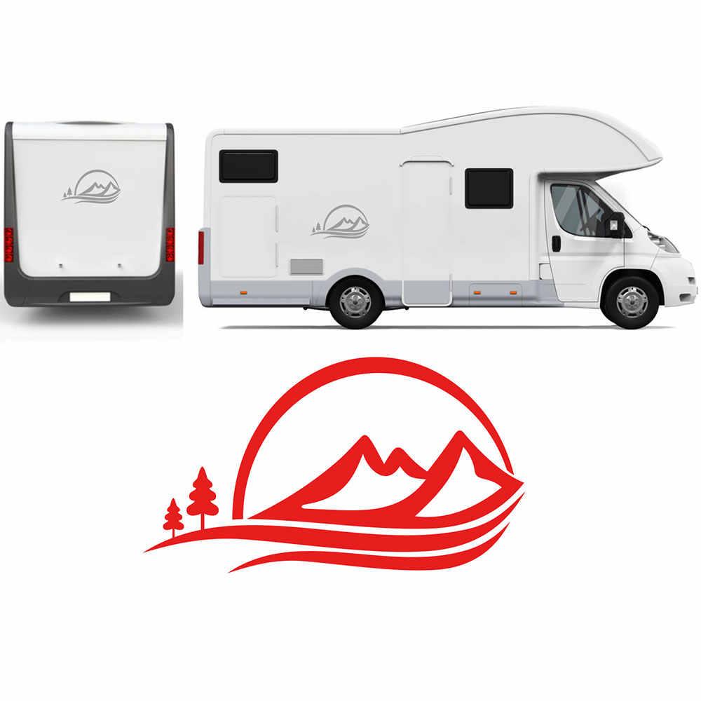 Camper aufkleber mauntains bäume decals camping auto wohnmobil