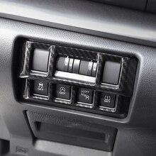 Per Subaru Impreza XV 2018 2019 2020 interruttore cruscotto interno in fibra di carbonio accessori per finiture