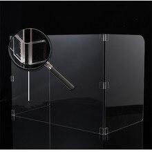 SNEEZE-barrera divisora de acrílico, protector de escritorio, espacio de trabajo, pantalla de protección de altura transparente
