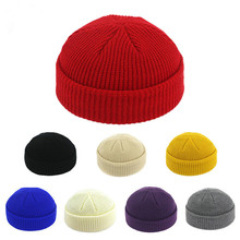 Melon Knit Hat Autumn and Winter Retro Skull Cap Sailor Cap Hip Hop Street Hats Wholesale Beanie Caps Warm Short Wool Winter Hat winter fashion new brand warm hoed unisex wool knit beanie hat cap beanie boys and girls skull hat nov 1