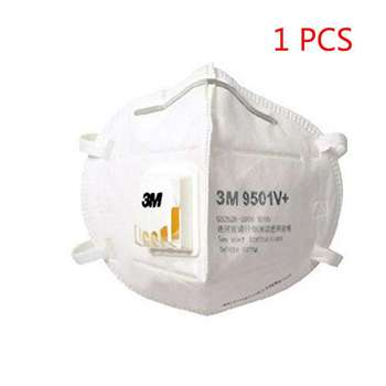 1Pcs 3M 9501V+  KN95 Protective Fold Masks Anti Dust Flu H1N1 PM 2.5 Multi Layer Filter Structure Industrial Fog enviroment