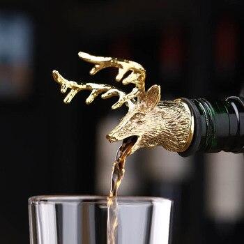 Zinc Alloy Wine Aerators in Deer Stag Head Design for Easy Pouring of Wine/Liquor/Spirit