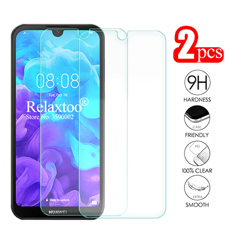 2pcs Tempered Glass For Huawei Y5 2019 Screen Protector On Huawey Hauwei Y 5 Y52019 AMN-LX1 AMN LX1 Protective Glas Safety Film