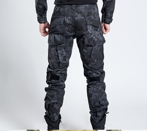 Image 2 - Man Pants Tactical Military Style Camouflage Hunt Pant for Man Army Urban Ripstop Train Python Overalls Cargo Pants Male Fashion