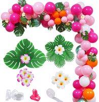 143 個ピンクグリーンハワイ熱帯フラミンゴバルーンアーチ花輪キットパーティーの装飾diy結婚式のため独身ベビーシャワー