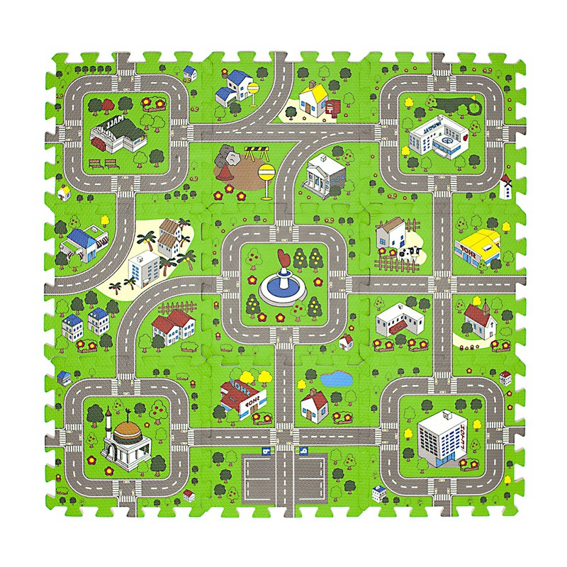 Traffic City Road Environmental Protection Foam Splicing Mat Children's Games Car Track Non-Slip Crawling Mat