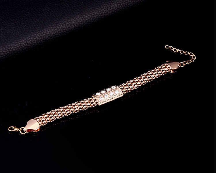 HC joyería Dubai moda collar de cristal de oro conjunto de joyería de la novia Etiopía árabe de la boda de la joyería para las mujeres F