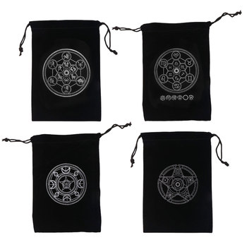 13x18cm Tarot Oracle Card Special Brand Bag Witch Fortune-telling Witchcraft Supplies Storage Bag German Thick Velvet Bags image