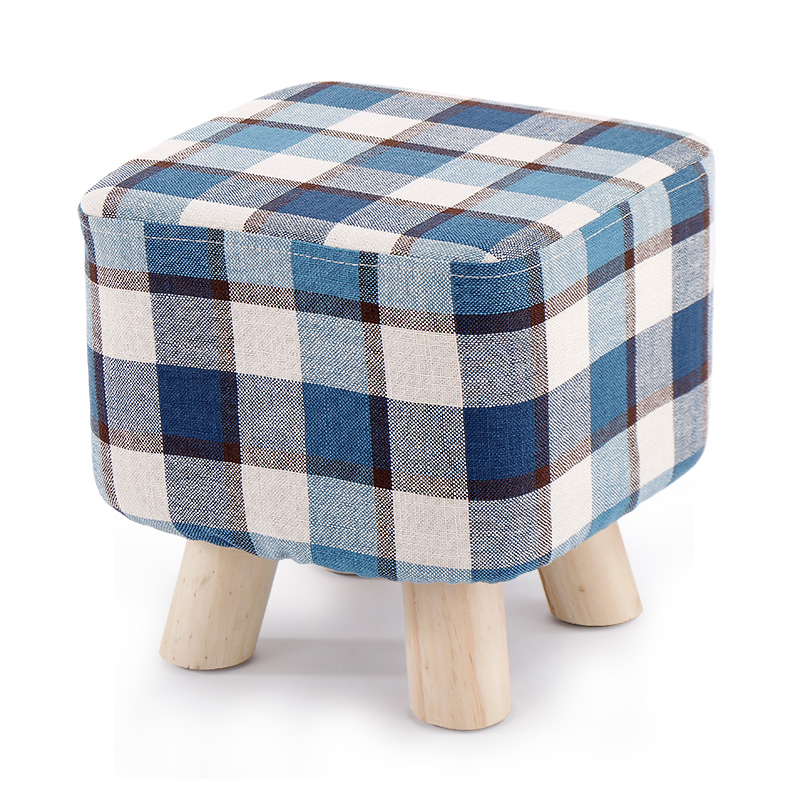 Square fabric wooden table low stool fashion creative adultwear foot stool sofa bench home decor hippo