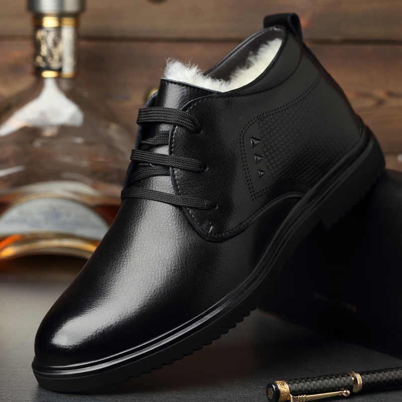 AQ14 Designer schuhe 2019 männer stiefel winter Echtem Leder 100% wolle Super warm Chelsea stiefel zapatos de hombre