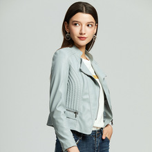 New Women Leather Jackets  Slim fittingg Motorcycle for Autumn Hot selling Drop Shipping