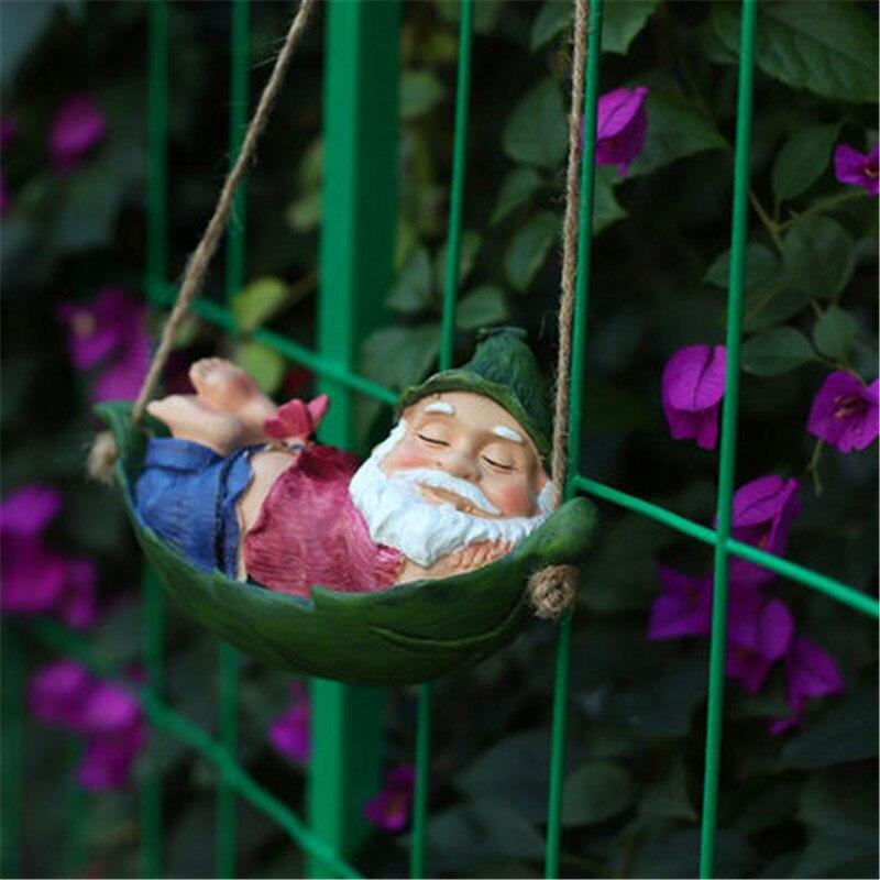 Outdoor Garden Courtyard Cartoon Stereoscopic Dwarf Resin Art&Craft Drop Ornament Creative Home Balcony Decor X5884