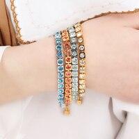 HOT SELLIN DYRBERG/KERN trendy Crystal bracelet gold and silver bracelet IN STOCK