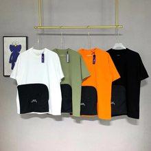 Camiseta ACW 2021 Homens Mulheres A-COLD-WALL Camiseta de manga curta de alta qualidade 1: 1 A-COLD-WALL * Camiseta de bolso removível