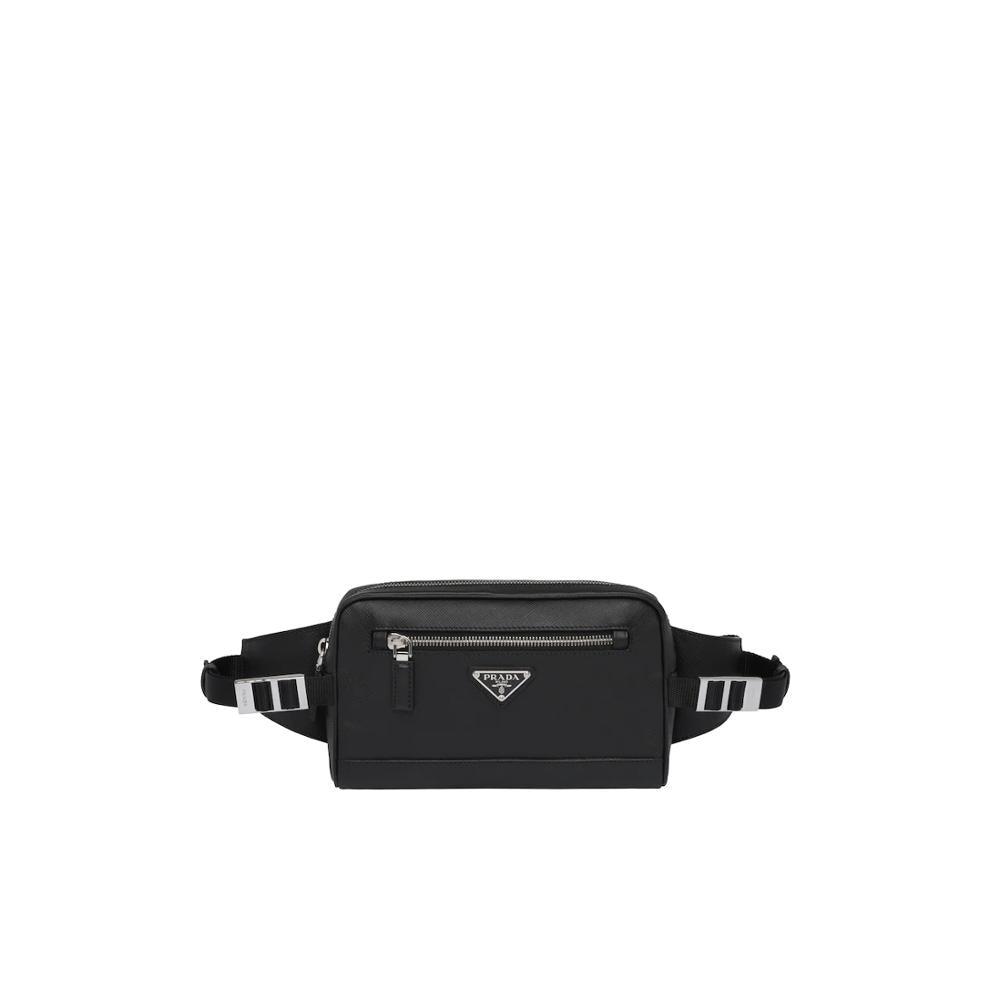 Chest Bag Leisure Waist Bag Outdoor Sports Prada Saffiano Leather Belt Bag 2VL012_9Z2_F0002_V_OOO