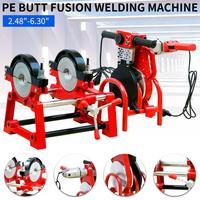 110V Manual Pipe Butt Fusion Welder PE HDPE PB PVC Piping Welding 2.48 6.30 Plastic Pipes Hot melt Machine