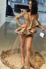 Выпускные платья с рукавами 2020 длинные роскошные женские в