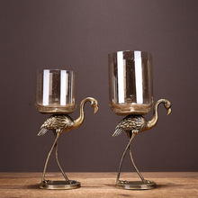 Creative Ostrich Candle Holder Stand  Iron Metal Candlestick Decorative Holders Home Decoration Collection 50xx100
