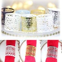 Anneau de serviette en papier Eid Mubarak, décorations pour la maison, décor de Table pour fête musulmane EID, Ramadan Kareem, 10/20/30 pièces